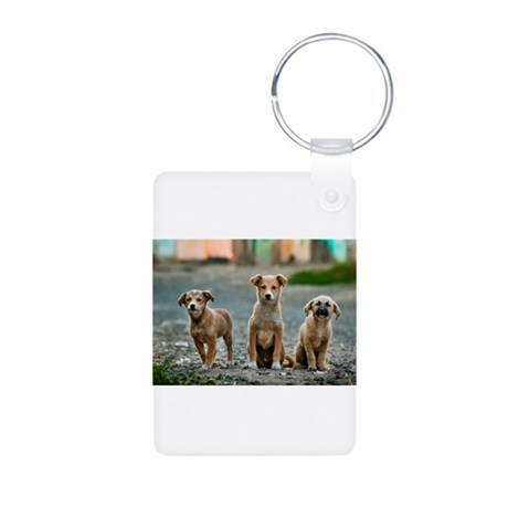 Three Is Trouble Puppies Keychains