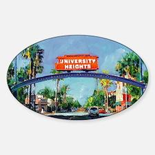 University Heights by Riccoboni Sticker (Oval)
