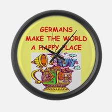 GERMAN.png Large Wall Clock