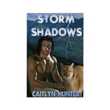 Storm Shadows notecard Rectangle Magnet