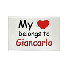 My heart belongs to giancarlo Rectangle Magnet