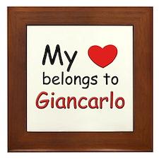 My heart belongs to giancarlo Framed Tile