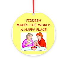 YIDDIASH.png Ornament (Round)