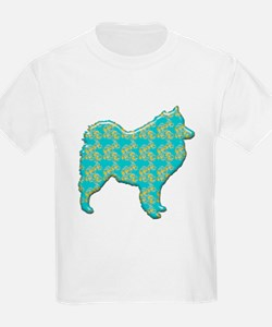 Paisley Samoyed Kids T-Shirt