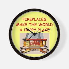 FIREPLACE.png Wall Clock