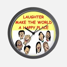 LAUGHTER.png Wall Clock