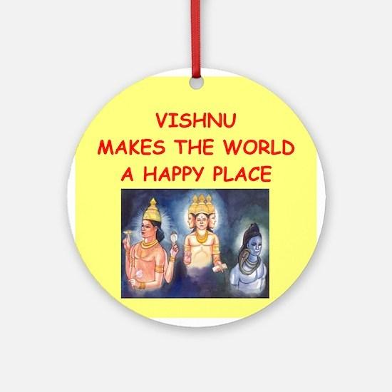 VISHNU.png Ornament (Round)