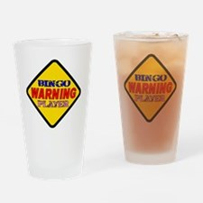 WARNING Bingo Player sign Drinking Glass