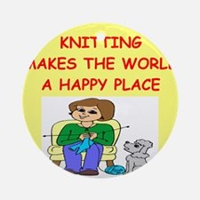 KNITTING.png Ornament (Round)