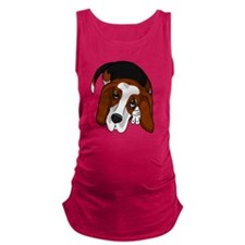 Cute Basset Hound Puppy Maternity Tank Top