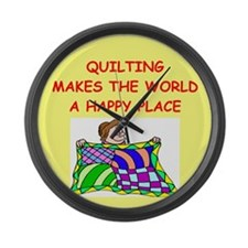 QUILT.png Large Wall Clock