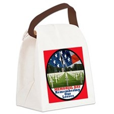 3-MemorialDay DA 2 sq Canvas Lunch Bag