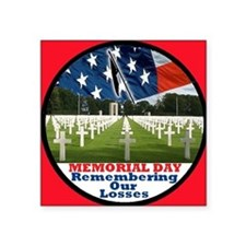 "3-MemorialDay DA 2 sq Square Sticker 3"" x 3"""