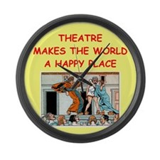 THEATER.png Large Wall Clock