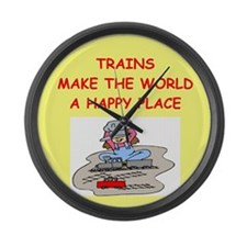 TRAINS.png Large Wall Clock