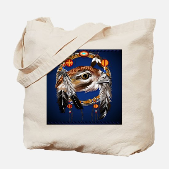 Hawk Face Dream Catcher_pillow Tote Bag