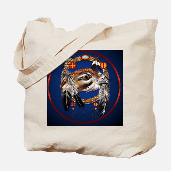Hawk Face Dream Catcher-Circle Tote Bag