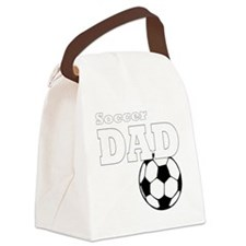 Soccer Dad black tees Canvas Lunch Bag