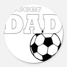 Soccer Dad black tees Round Car Magnet