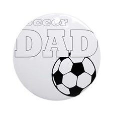 Soccer Dad black tees Round Ornament