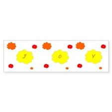 Joy Custom Floral Designer Bumper Sticker