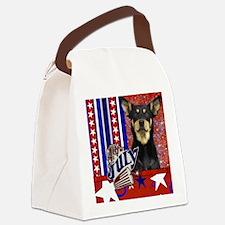 July_4_Firecracker_Australian_Kel Canvas Lunch Bag