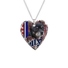 July_4_Firecracker_Chihuahua_ Necklace Heart Charm