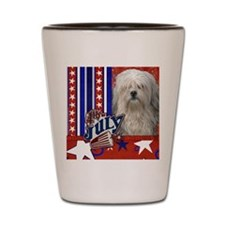 July_4_Firecracker_Lowchen_Sq Shot Glass