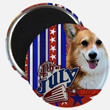 July_4_Firecracker_Corgi_Owen_Sq Magnet