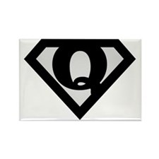 super_black_q Rectangle Magnet