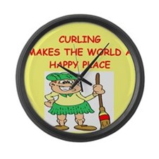 CURLING.png Large Wall Clock