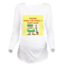 CURLING.png Long Sleeve Maternity T-Shirt