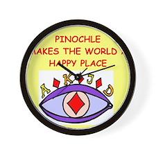 PINOCHLE.png Wall Clock