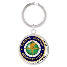 FAA_Logo_Color_Gnd-patch Round Keychain
