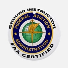 FAA_Logo_Color_Gnd-patch Round Ornament
