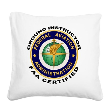 FAA_Logo_Color_Gnd-patch Square Canvas Pillow