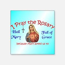 "pray_ornament_round_blue Square Sticker 3"" x 3"""