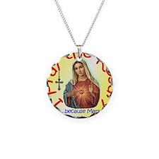 pray_button_6x6_yellow_slant Necklace