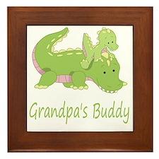 alligator buddy Framed Tile