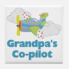 grandpas copilot Tile Coaster