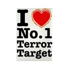 I Love No. 1 Terror Target Rectangle Magnet