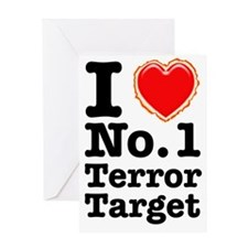 I Love No. 1 Terror Target Greeting Card