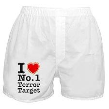 I Love No. 1 Terror Target Boxer Shorts