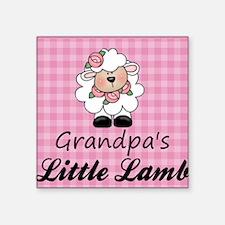 "Grandpas Little Lamb Square Sticker 3"" x 3"""