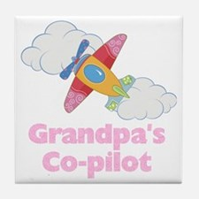 copilot girl Tile Coaster