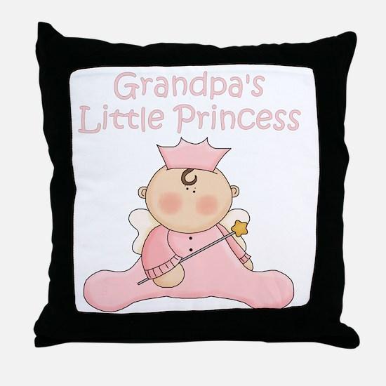 grandpas little princess Throw Pillow