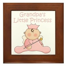 grandpas little princess Framed Tile