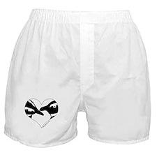 Penguin kiss (heart design) Boxer Shorts