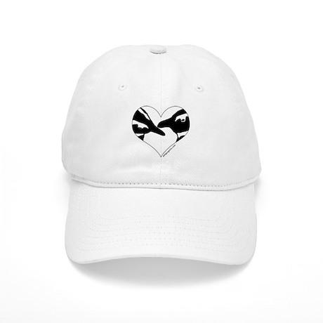 Penguin kiss (heart design) Cap