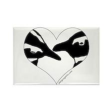 Penguin kiss (heart design) Rectangle Magnet